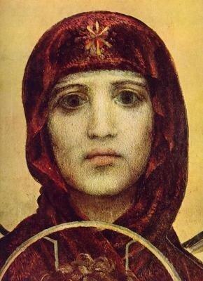 Врубель М.А. Богородица (фрагмент росписи Кирилловской церкви)