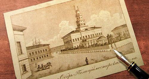 Первое изображение Хитровской площади. Москва 1825 год.