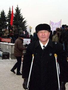Соперник нынешнего мэра Владимир Ширшов на митинге