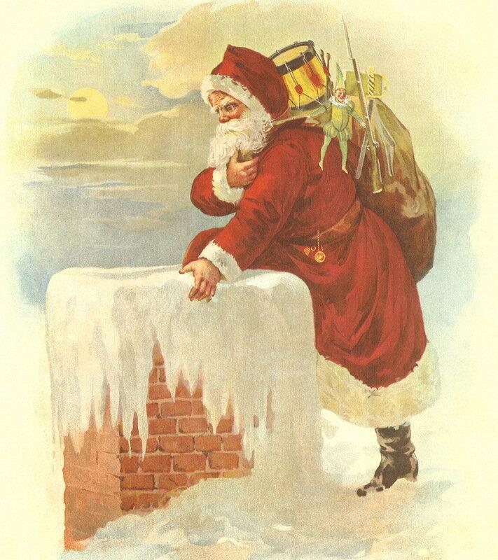 Американские старинные новогодние открытки