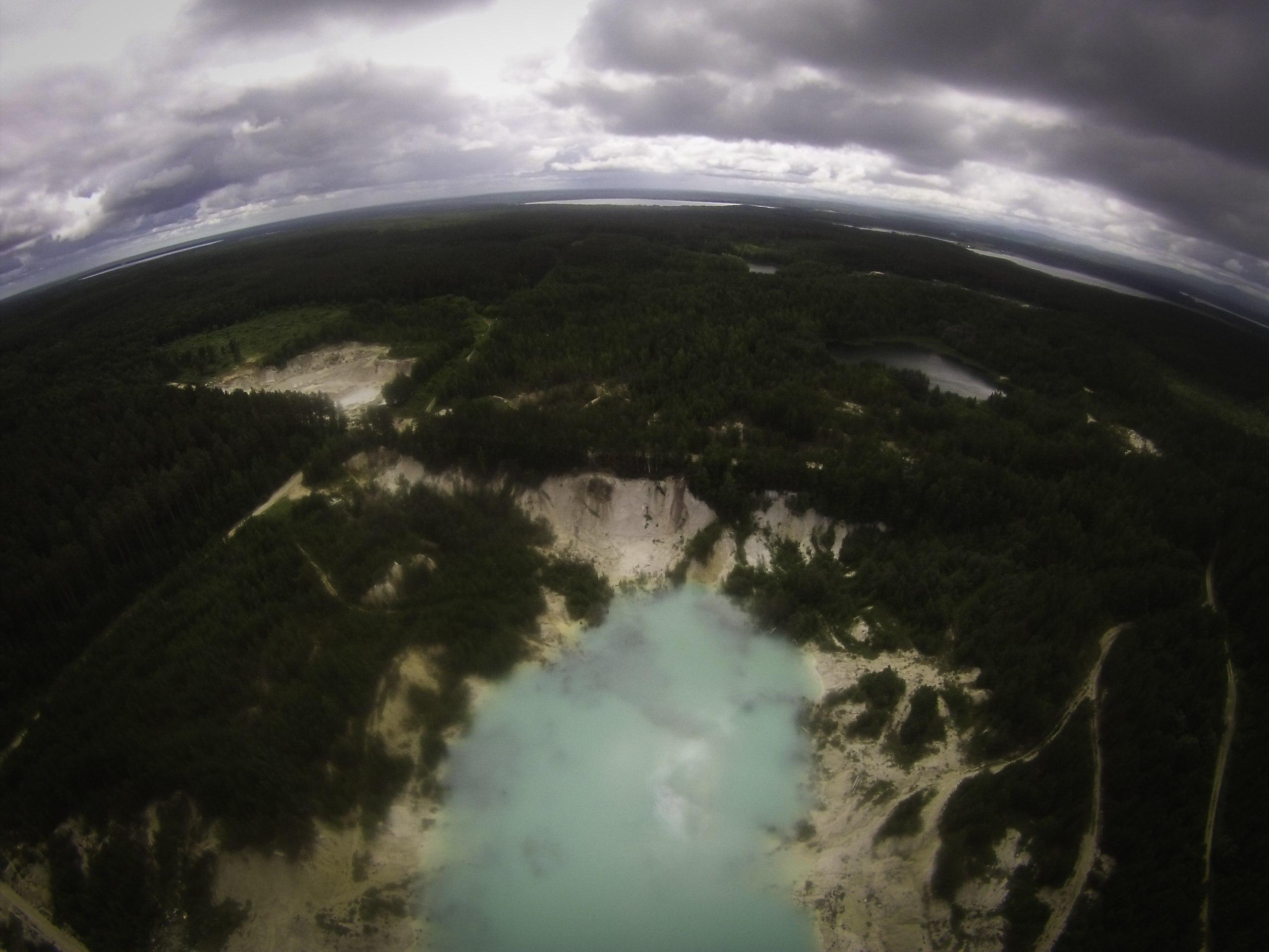 Каолиновый карьер с высоты птичьего полета (15.06.2015)