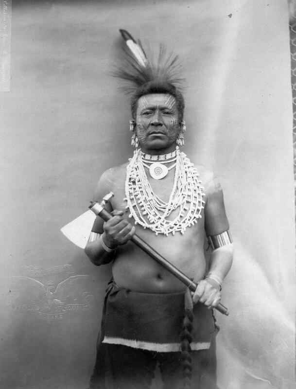 Hard Chief a Omaha man, 1883