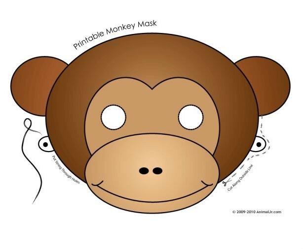 Карнавальные маски - обезьяна