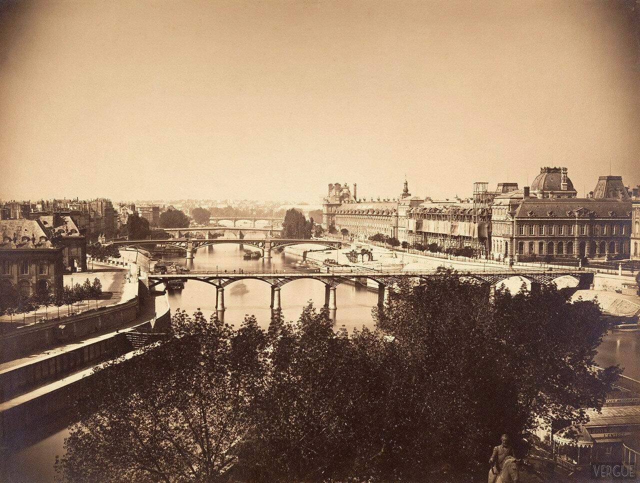 1856. Вид на Сену от площади Вер-Галан
