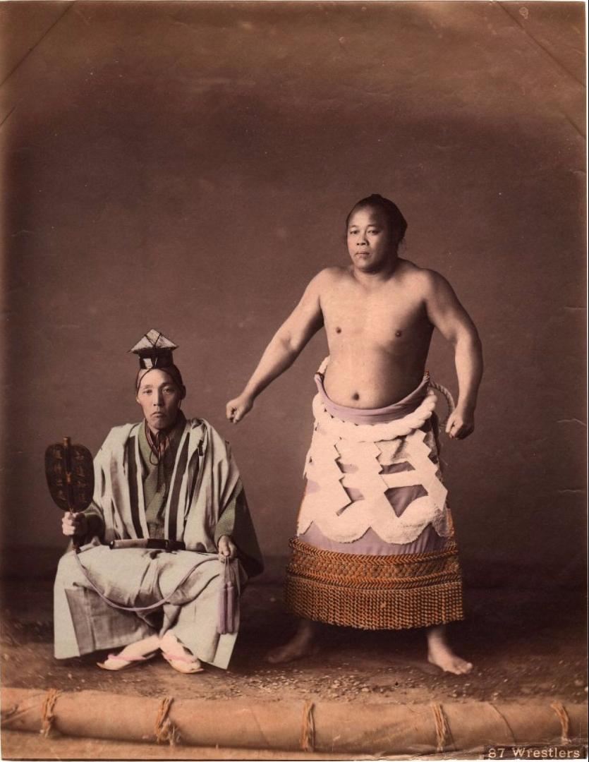 Борец сумо и судья. 1890