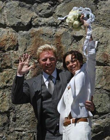 Свадьба известного теннисиста
