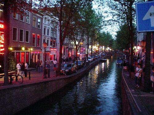 Travel серия квартал красных фонарей