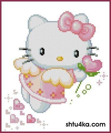 Вышивка с Кити - Hello Kitty 2.0 - фан клуб и социальная сеть для фанатов Китти.