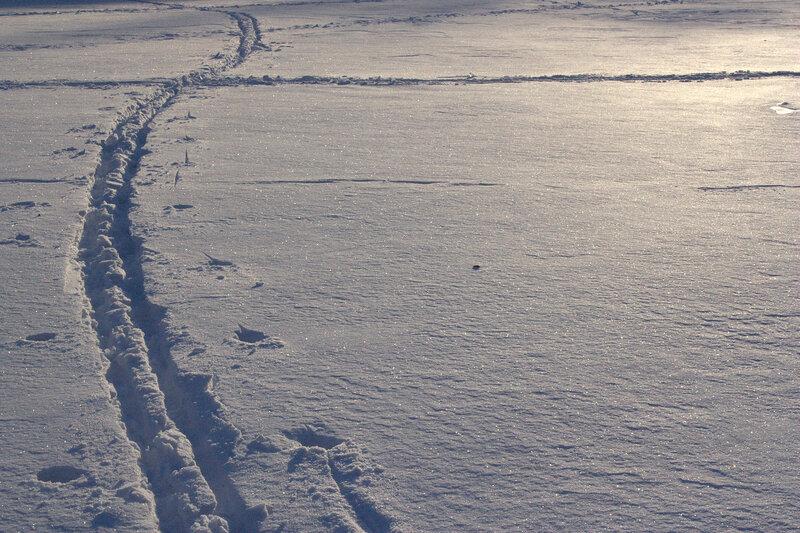 Пересечение снежных путей