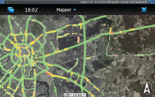 Maemo-Mapper с Яндексом и Пробками для Nokia N900