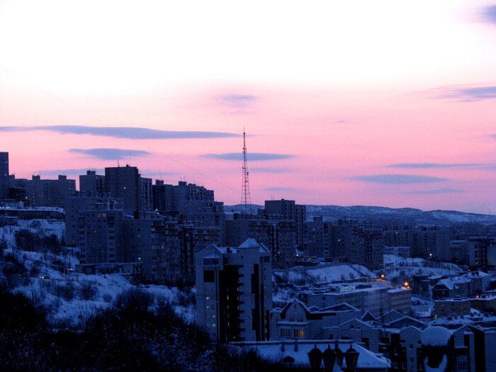 фото зима в мурманске