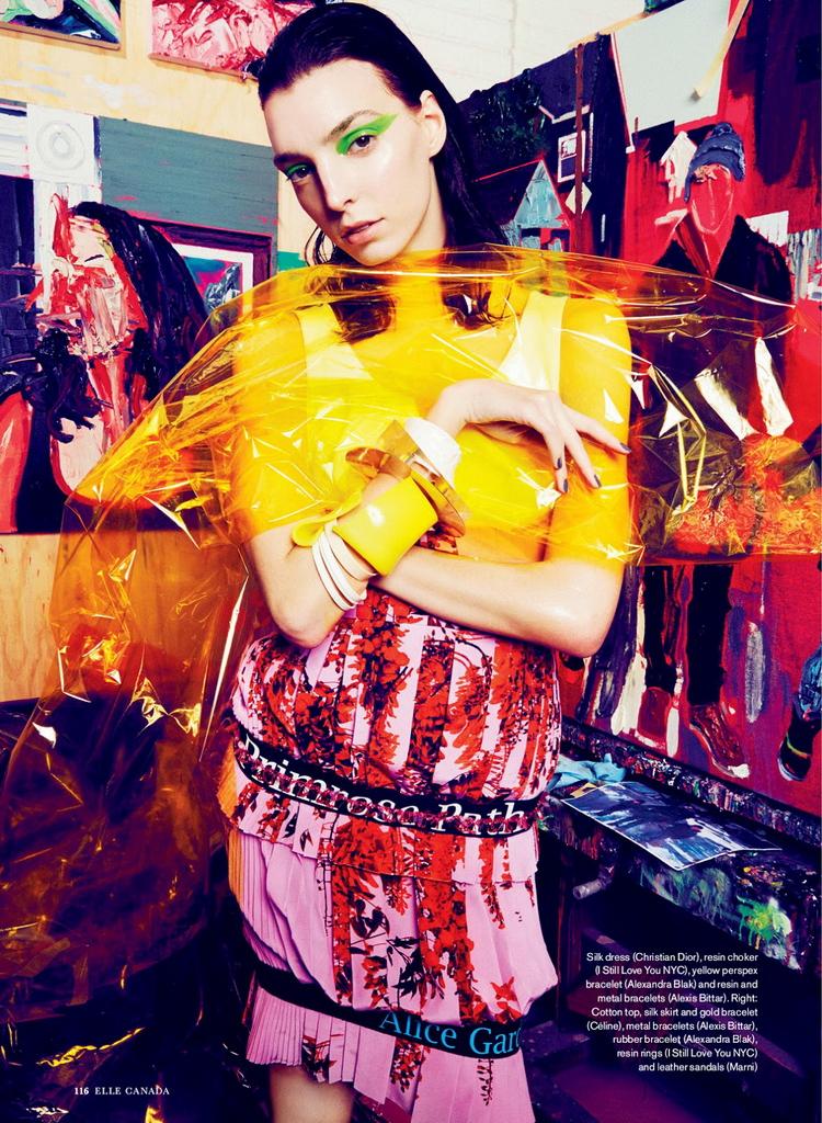 Даяна Антич в майском Elle Canada 2014