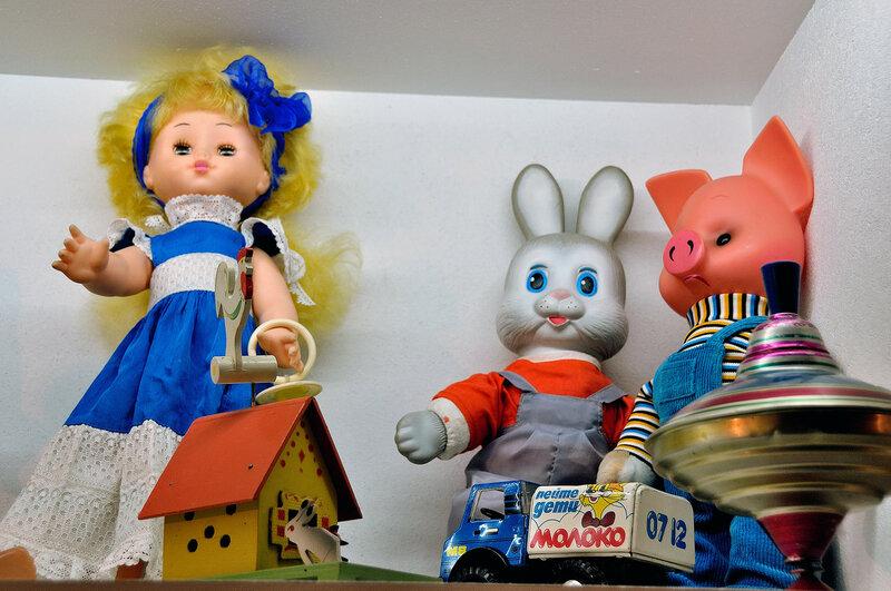 Хрюша, Степашка и большая кукла