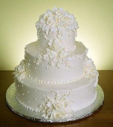 Белоснежные свадебные торты