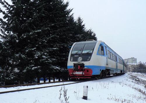 РА2 следует по маршруту Голутвин - Озеры в черте Коломны