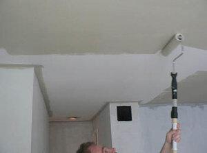 как побелить потолок