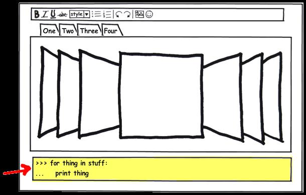 Python Console screenshot