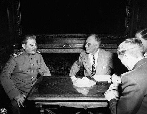 Сталин и Рузвельт в Ялте, февраль 1945