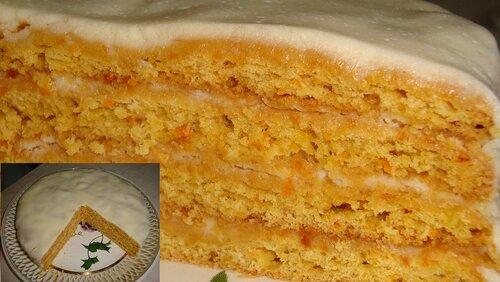 Морковный торт рецепт пошагово в мультиварке