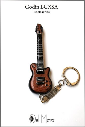 Godin LGXSA electric guitar keyring