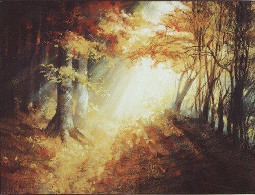 Рисунки пастелью пейзажи