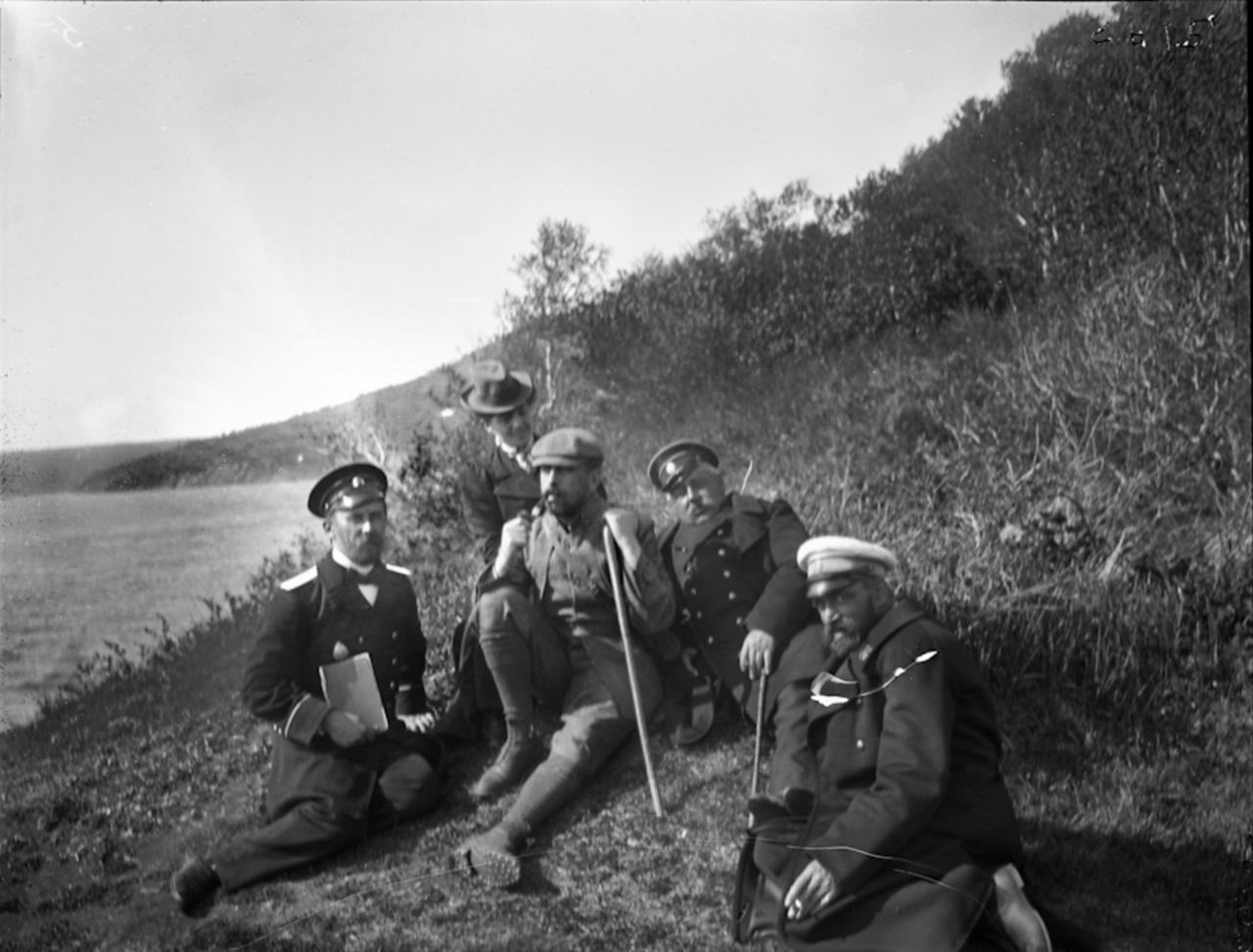 Путешественники, Сибирь, 1900