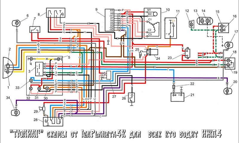 Схема электрическая иж-планета.