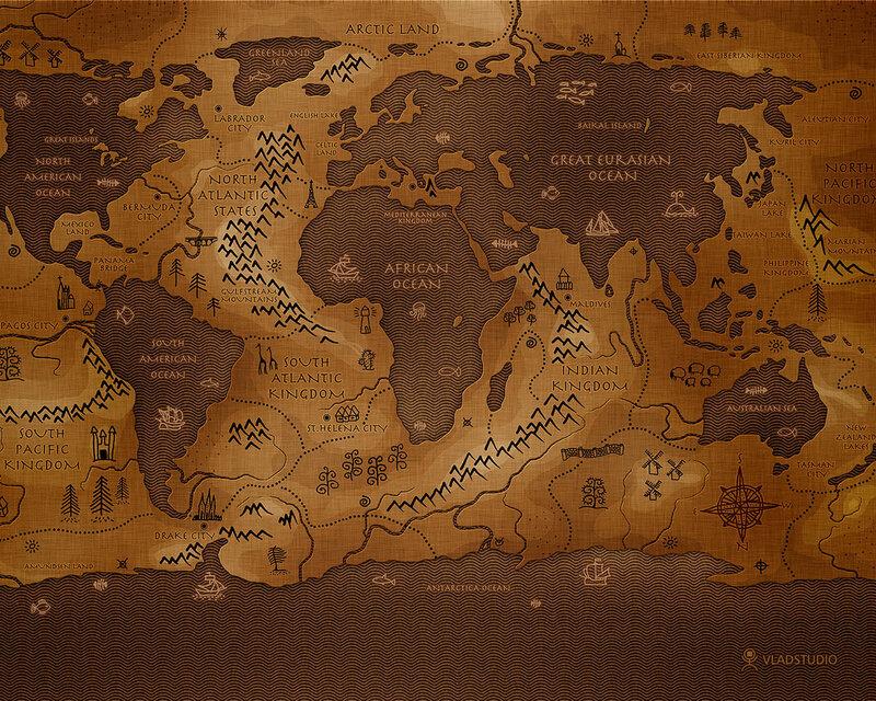 инвертированная карта планеты Земля