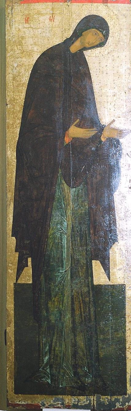 Пресвятая Богородица. Икона из деисусного чина. Вологда.