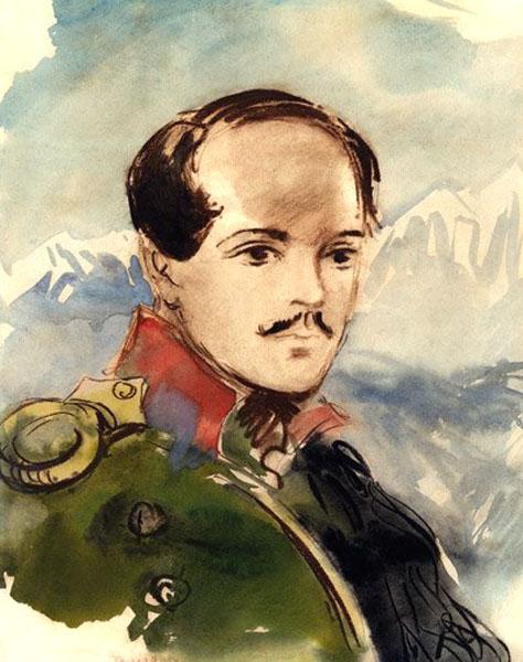 + М. Ю. Лермонтов. Акварельный портрет работы Т. А. Мавриной.jpg