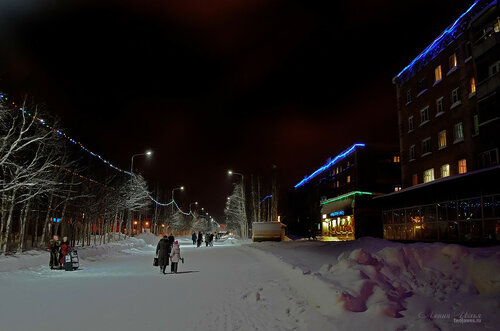 Фото города Инта №7450  Горького 12, 19 и 21 18.01.2015_16:44
