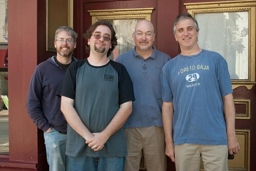 Co-Founder of DM Press David L. Craddock with David Brevik, Max Schaefer and Erich Schaefer