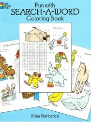 Книга Fun with Search-a-Word Coloring Book (Dover Coloring Book)