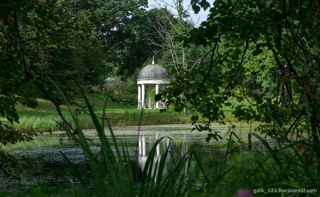 Старый парк в усадьбе Хмелита