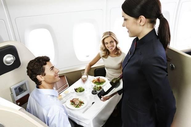 Первый класс от компании Qantas, которая занимает первое место по уровню обслуживания.