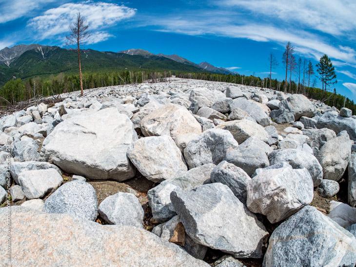 Каменная река в Аршене, Бурятия (16 фото)