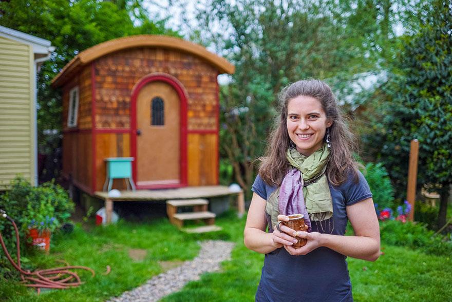 5. Крошечный дом Лины в Орегоне площадью лишь чуть более 9 квадратных метров