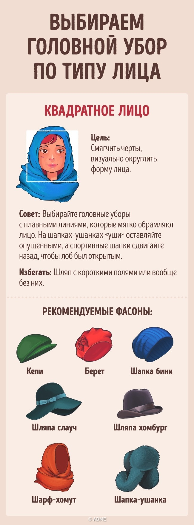 Как выбрать головной убор всоответствии стипом лица (5 фото)
