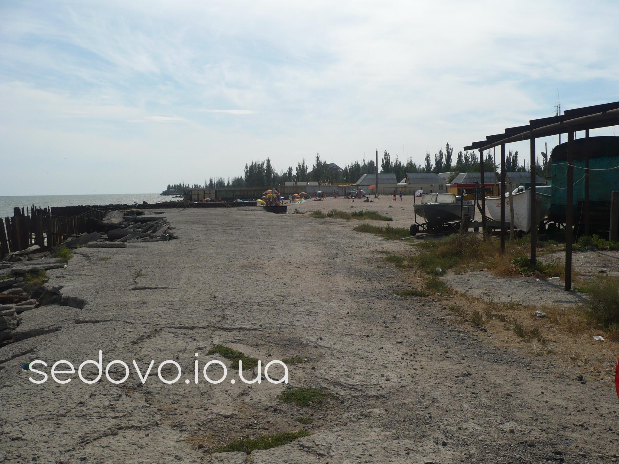 Седово пляж в центре поселка за музеем фотографии