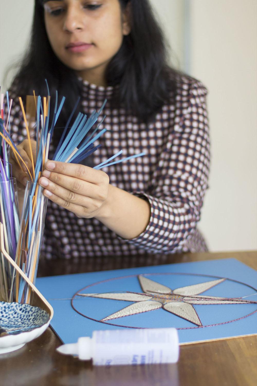 New Rolled Paper Tapestry Sculptures by Gunjan Aylawadi