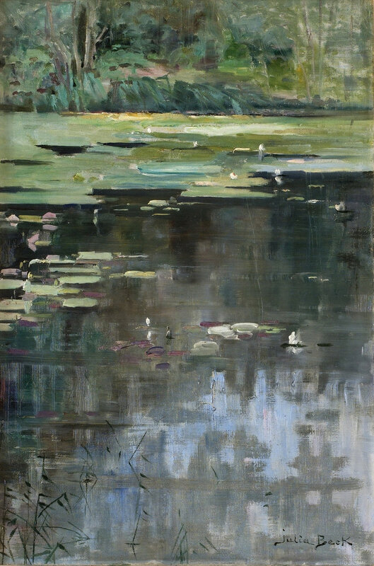 River Landscape with Water Lilies, probably 1880s