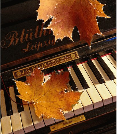 С днем музыки. Листья клена открытки фото рисунки картинки поздравления