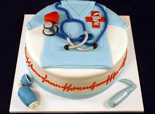 С Международным днем врача. Торт для доктора