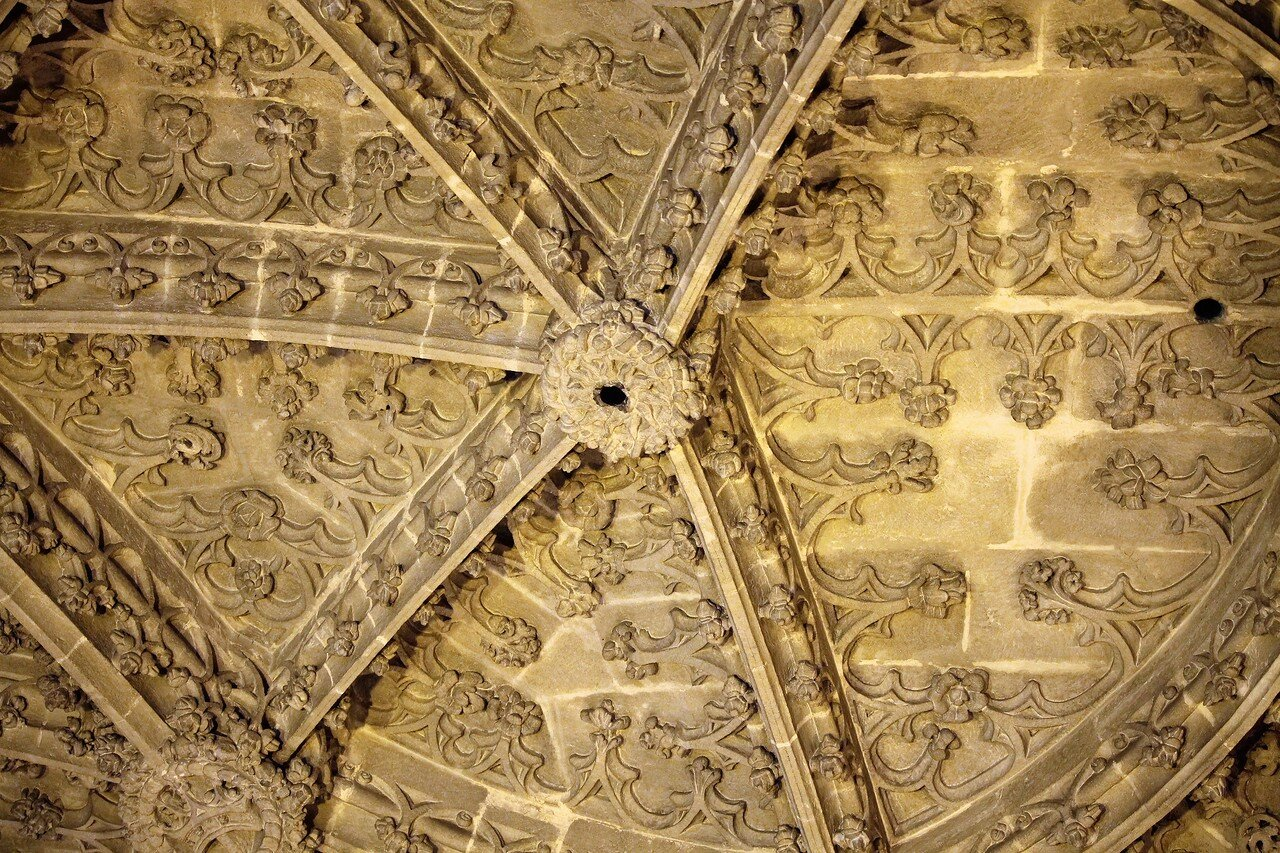 Under the arches of the Cathedral of Seville. The upper gallery
