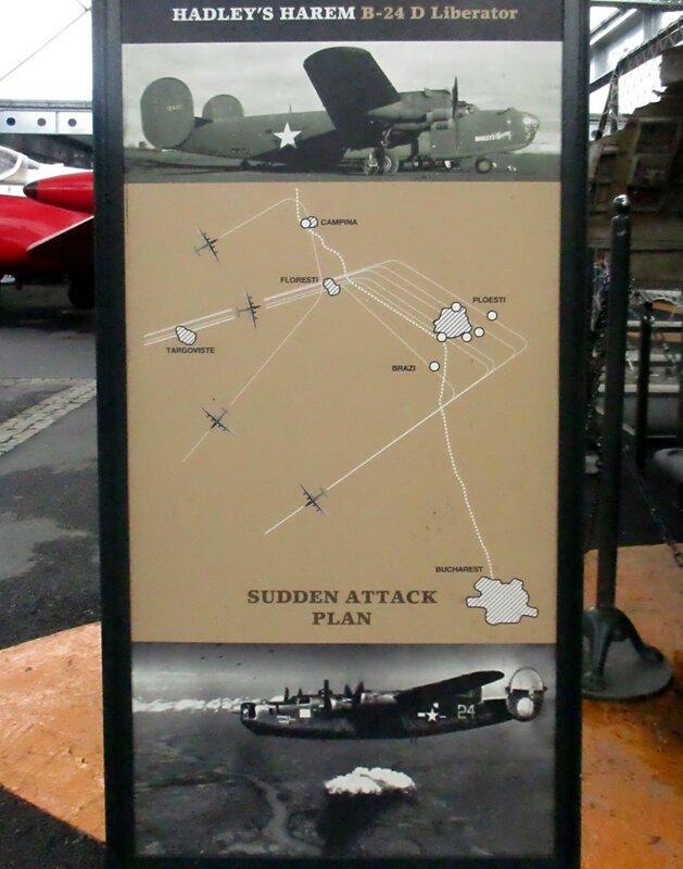 Istanbul, Rahimi M. Koch museum. B-24D Liberator 'Hadley's Harlem' bomber