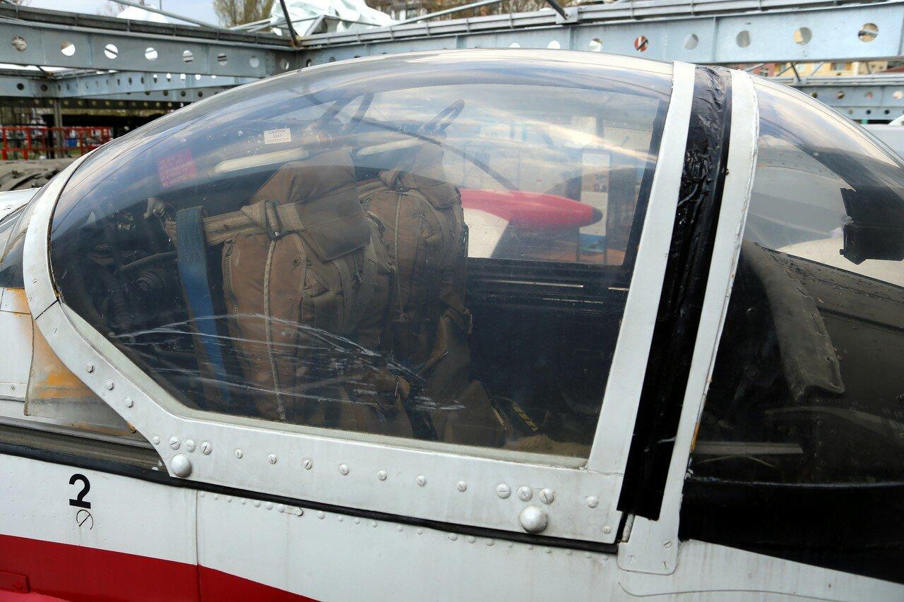 Istanbul, Rahimi M.Koch museum. Jet training aircraft Jet Provost T3A