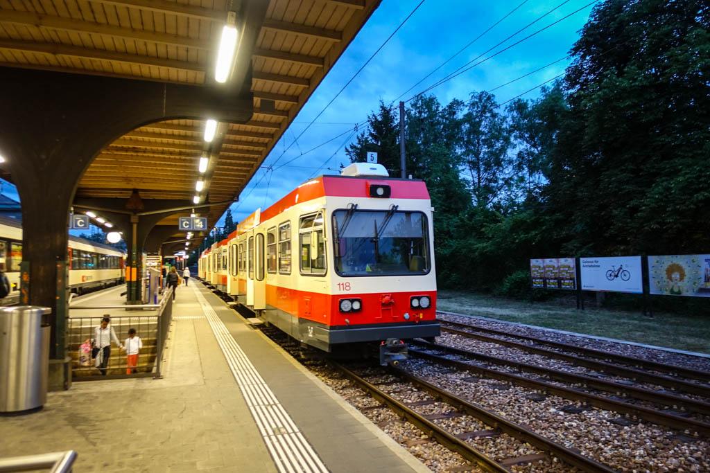 Бывают и совсем маленькие поезда, скорее похожие на трамвайчики. Они ходят по узкоколейным путям.