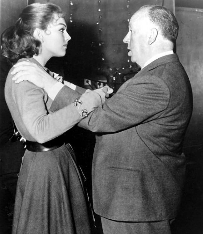 8. С Ким Новак на съемках фильма «Головокружение», 1958 год.