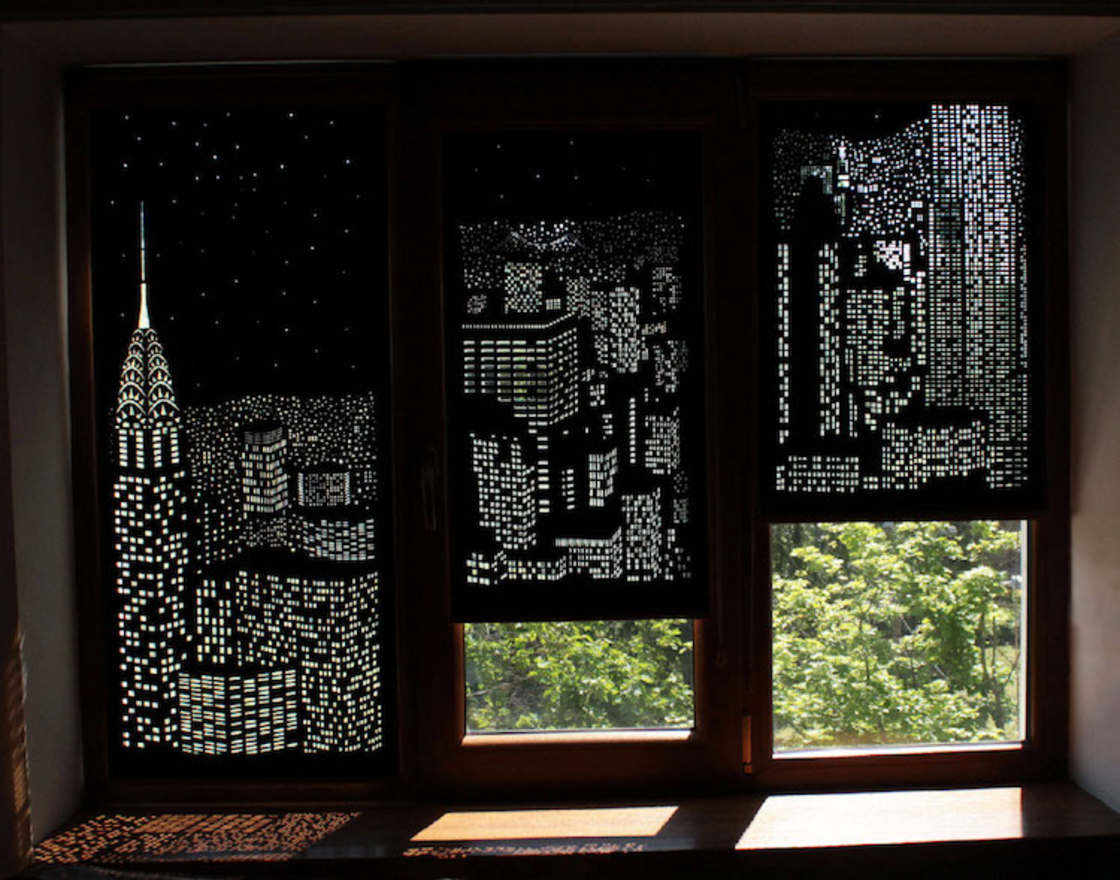 Magical Cut-out Curtains by HoleRoll
