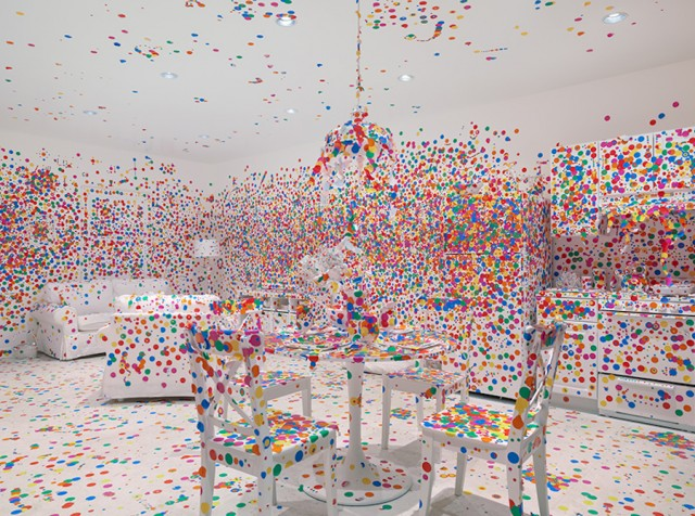 The Obliteration Room with Colorful Polka-Dot Stickers (10 pics)